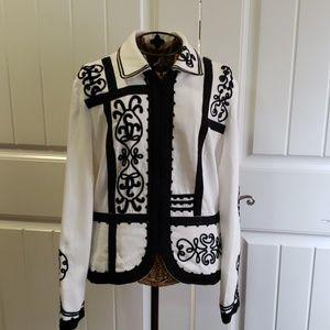 Chico's embroidered blazer